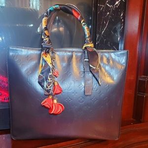 Louis Vuitton Black Columbus Tote Bag Satchel